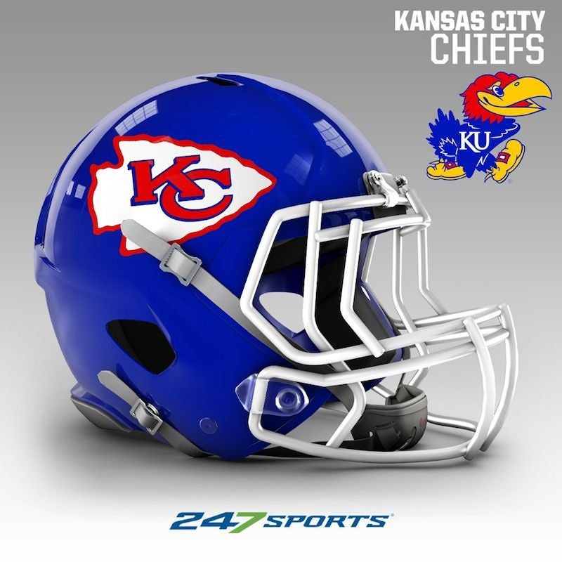 Combining Nfl Helmets With The Colors Of Local College Teams In