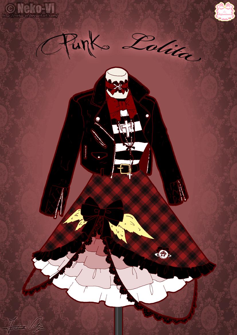 Punk Lolita by Neko-Vi.deviantart.com on @deviantART