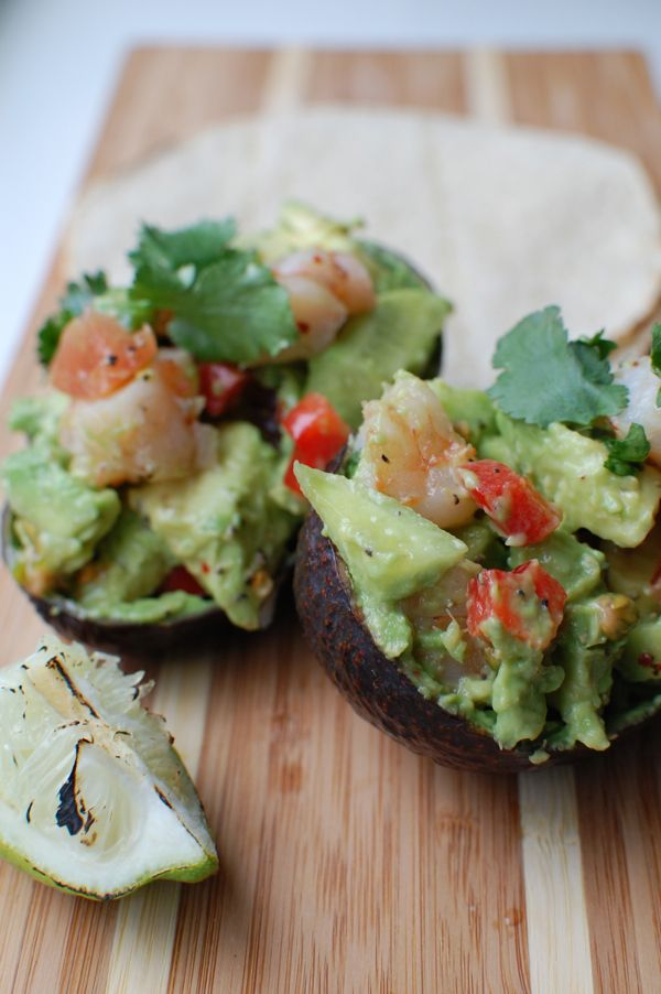 Loaded avocado - use low carb whole wheat tortillas for a low carb version.