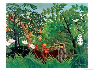Exotic Landscape painting by Henri Rousseau | Artists - Henri ...