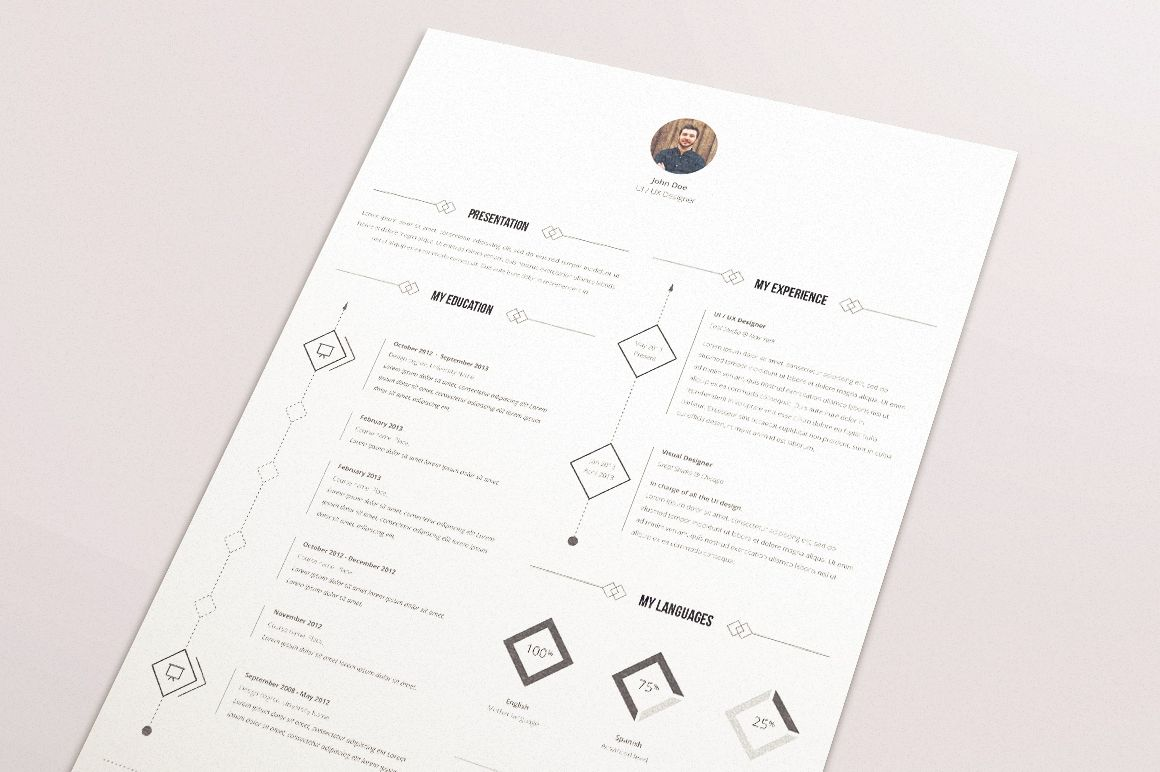 minimal  u0026 smart single page resume  cv  international a4 resume template  fully editable  ai