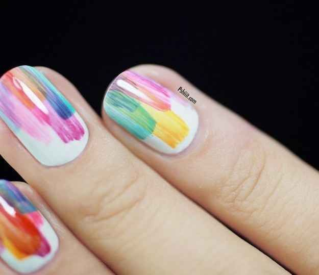 Random splashes of color are artful and eye catching 28 random splashes of color are artful and eye catching 28 colorful nail art prinsesfo Choice Image