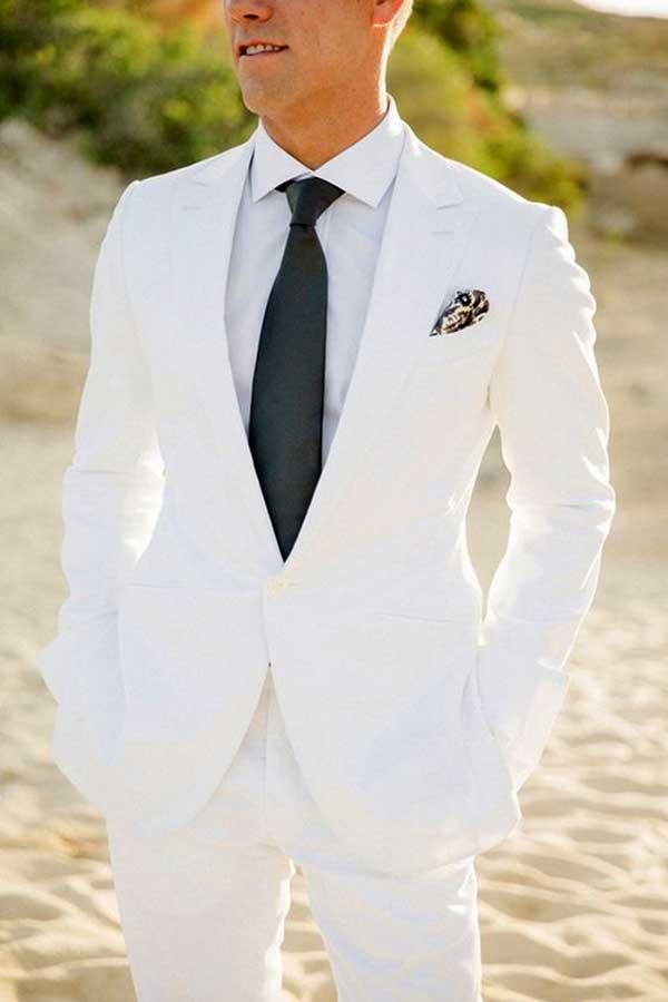 Beyaz Damatlik Erkek Giysileri Centilmen Stili Erkek Giyim
