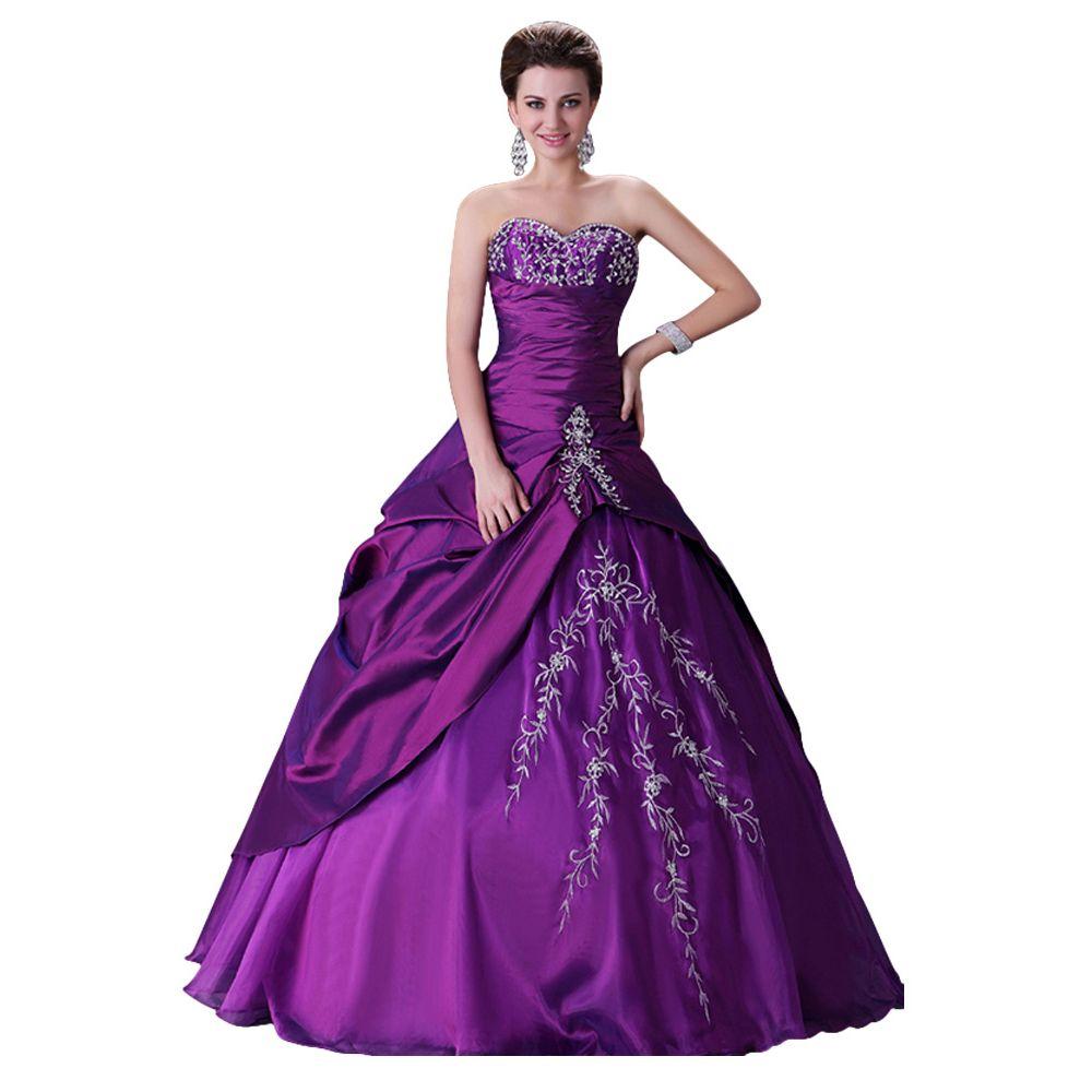 Resultado de imagem para vestidos de noivas roxo | coisas para usar ...