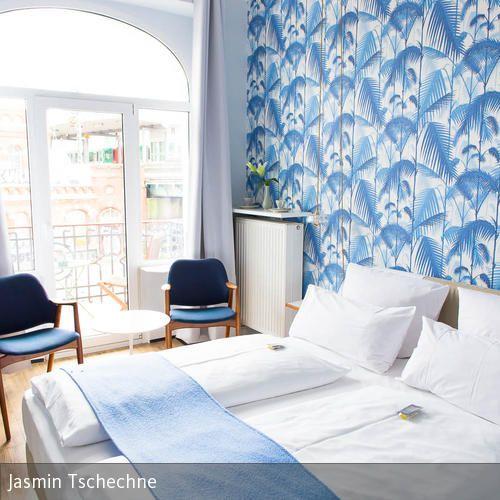 True Blue Jungle Zimmer im Fritz im Pyjama Tapeten schlafzimmer - tapeten schlafzimmer gestalten