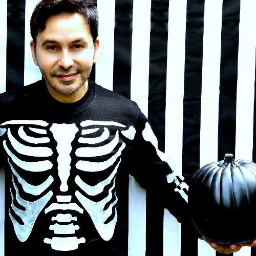 Freezer Paper Skeleton Costume - 4