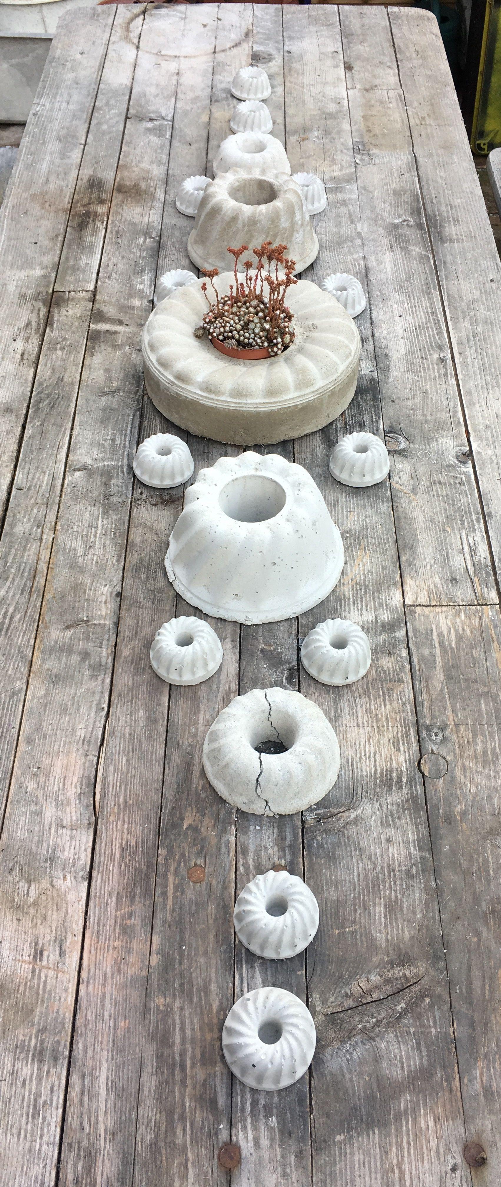 betongugelhupf tischdeko erstversuch 😎