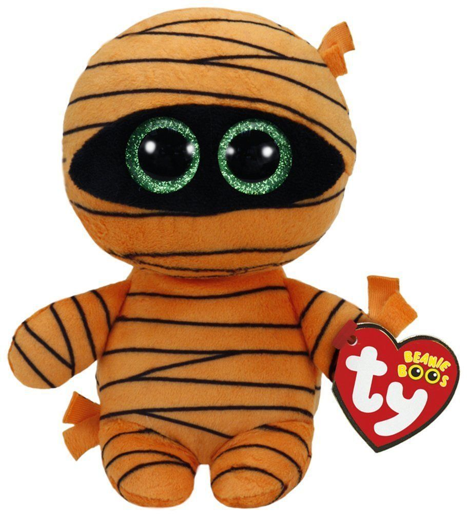 "Ty Beanie Boos 6/"" Plush Mask Orange Mummy"