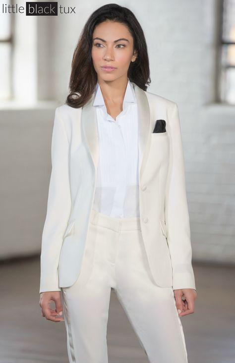 a8abefa5e12d Women s Ivory Diamond White Tuxedo   Ladytux. Shawl Collar
