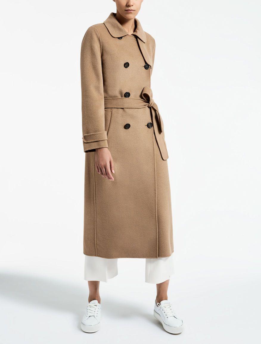 Max Mara SATURNO camel  Wool and angora trench coat.  ef92421b415