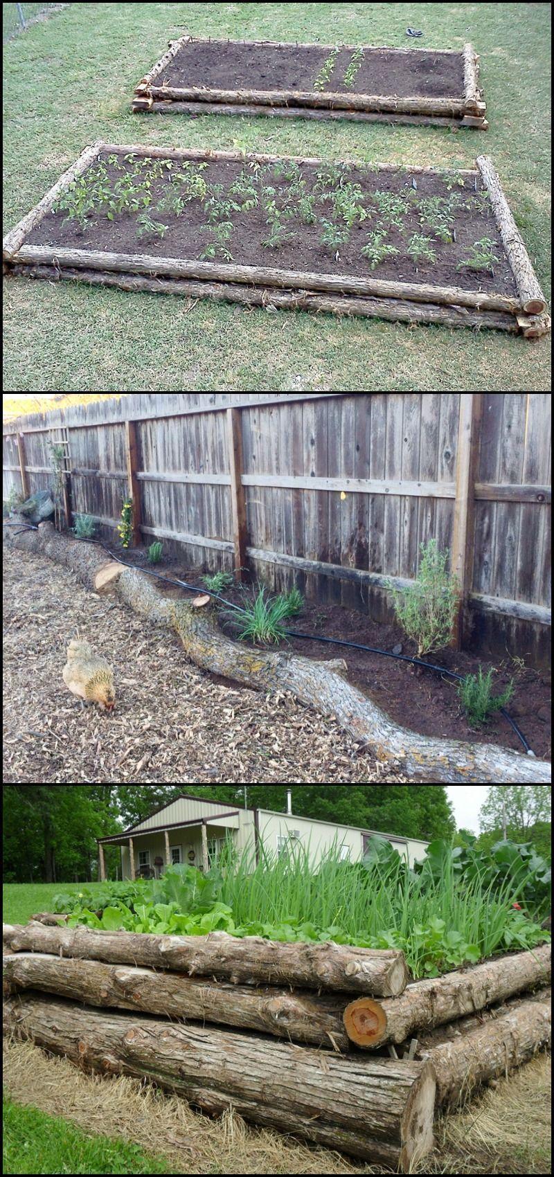 Photo of Bauen Sie ein erhöhtes Gartenbett aus Baumstämmen # erhöhtepflanzbeete Bauen Sie ein erhöhtes…