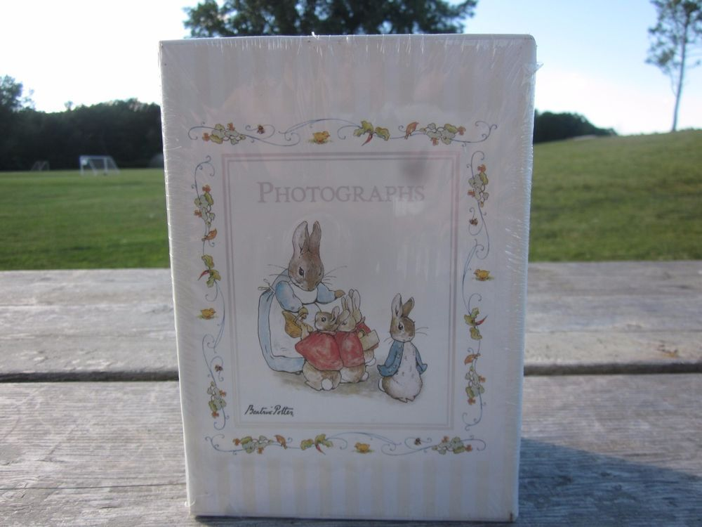 New Beatrix Potter Peter Rabbit Photo Album Set & Slipcase Babies 1ST-3RD Year #Gibson