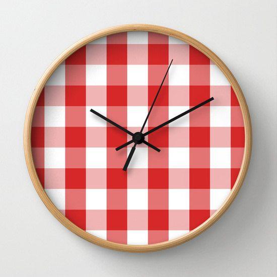 Horloge horloge murale horloge retro horloge rouge deco cuisine deco enfant