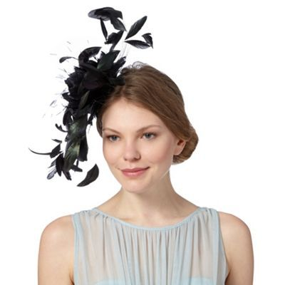 0239020f8a3 Star by Julien Macdonald Designer black feather flower fascinator ...