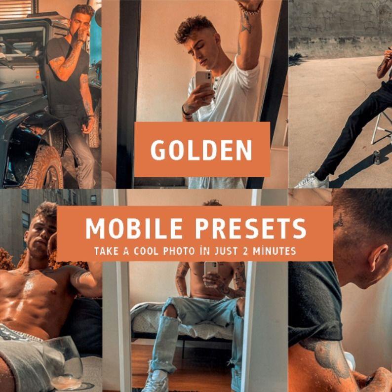 Golden Presets Lightroom Mobile Mobile Lightroom Presets Instagram Presets Mens Presets Dng Filter In 2020 Lightroom Presets Lightroom Presets
