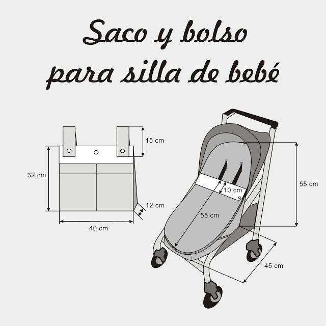 Cose conmigo un saco universal para silla de paseo de bebé. Patrones ...