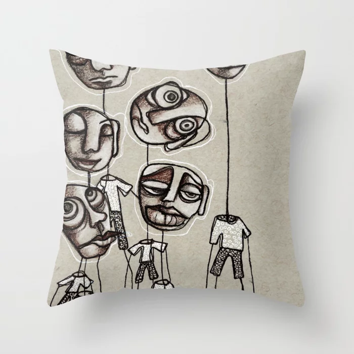 Friends With Feelings Throw Pillow By Hollydirks Society6 Throw Pillows Pillows Designer Throw Pillows