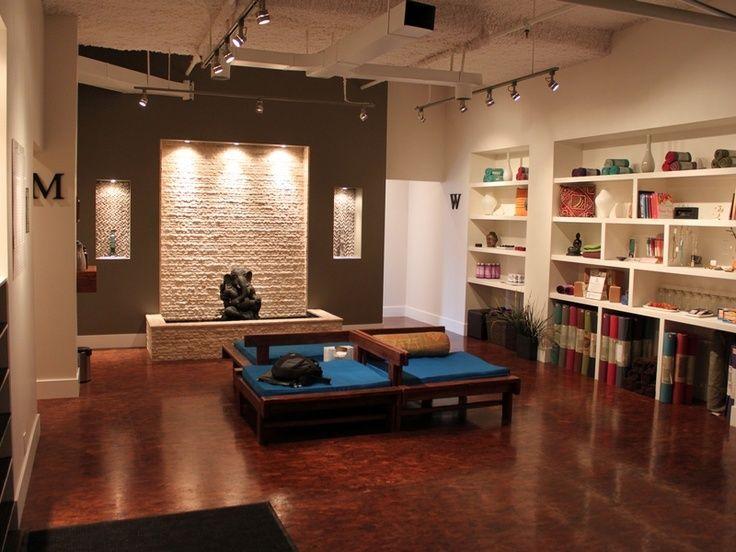 yoga santosha great yoga studio decor salas de yoga. Black Bedroom Furniture Sets. Home Design Ideas