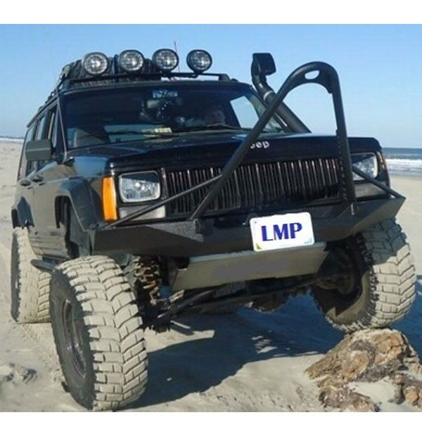 Rusty S Offroad Xj Cherokee Front Tube Stinger Bumper With Winch
