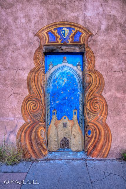 Painted door. New Mexico