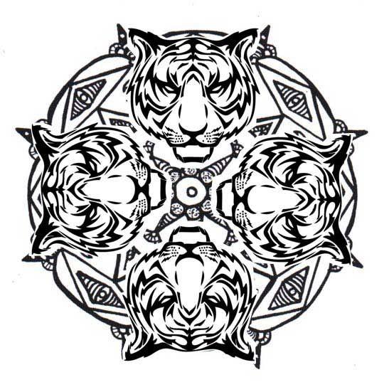 Tiger Mandala Coloring Pages