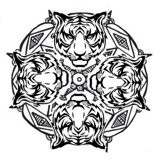 Tiger Mandala Coloring Pages Mandala Coloring Animal Coloring Pages