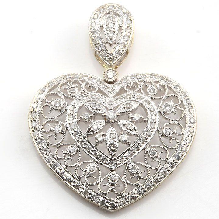 f463c561769 Jewelry | Estate Jewelry | Jewelry, Diamond earrings, Heart jewelry