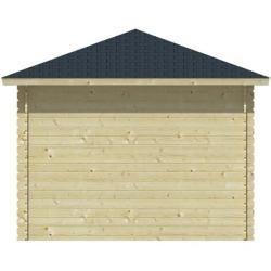 WoodFeeling Gartenhaus 28 mm Tastrup 7 grau 2xAnbau 947×337 cm WoodfeelingWoodfeeling