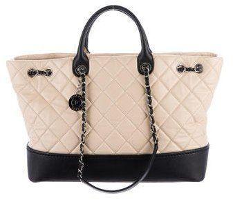 Bicolor Lambskin Globe Trotter Tote Chanel Handbags Louis