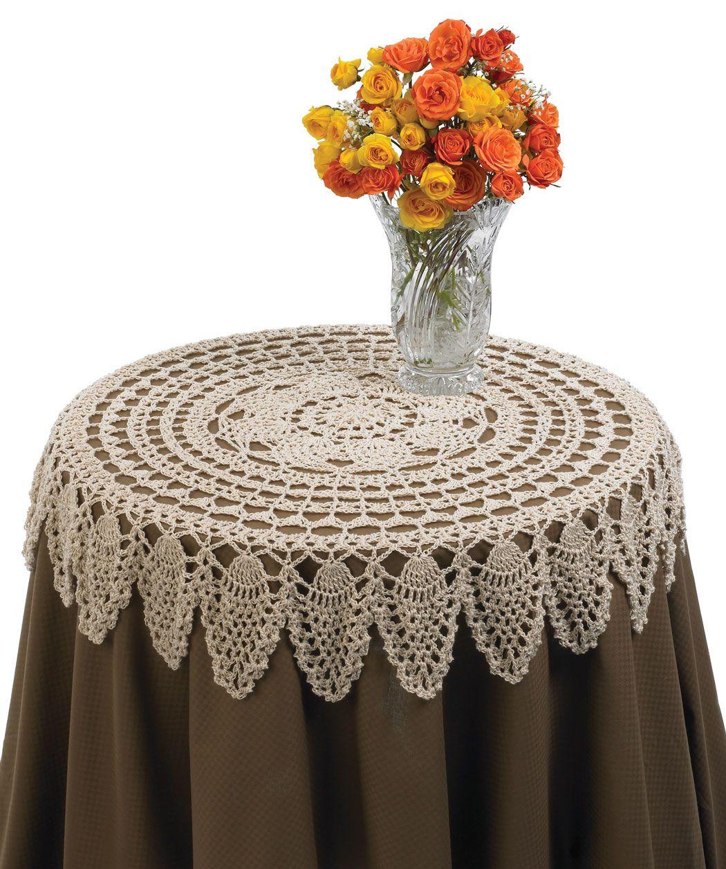 Table Topper: free pattern | Biodiversidad | Pinterest | Mantel ...