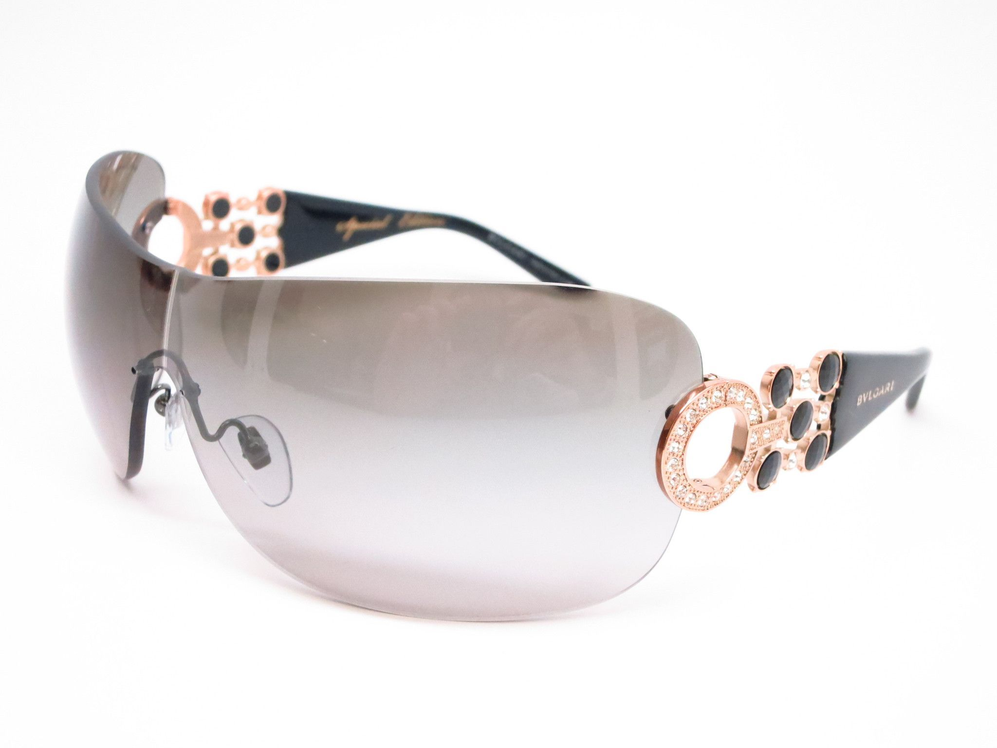 589291f945 Bvlgari BV 6063B 376 11 Pink Gold   Gloss Black Sunglasses