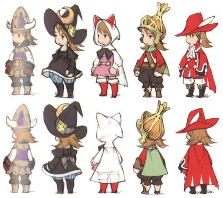 Anime Character Design Jobs : Final fantasy ds characters buscar con google