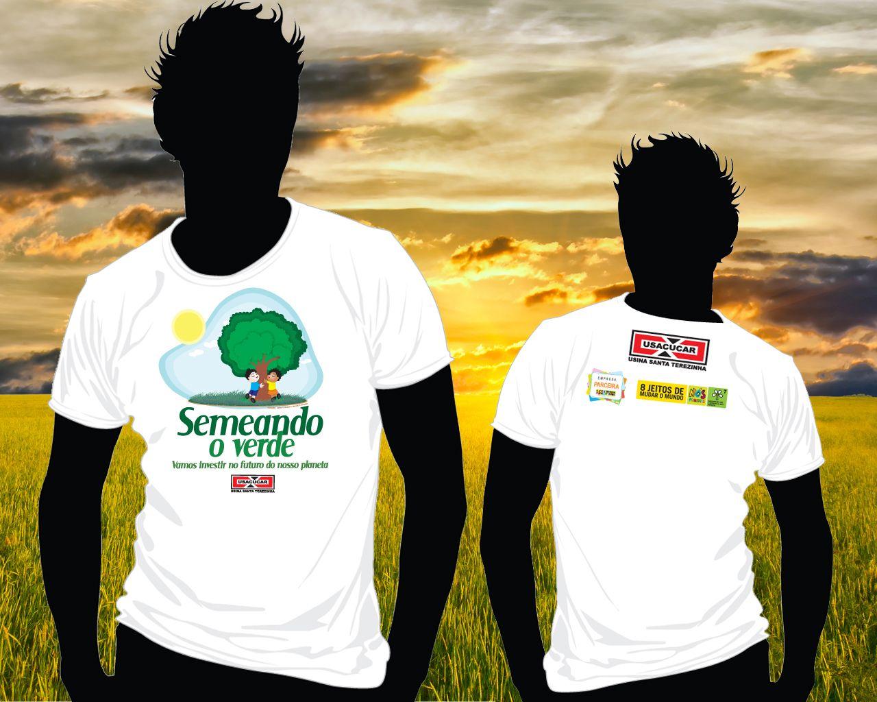 Camiseta criada para o projeto Semeando o Verde.