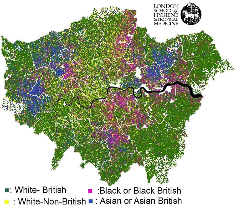 Show Map Of London.This Map Showing London S Ethnic Diversity Uk In My Heart