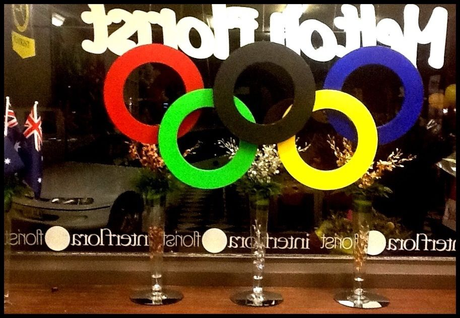 Olympic Games Window 2012 -Display by Melton Florist