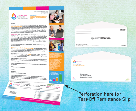 All In One Appeal Letter Package With Tear Off Remittance Slip Donation Letter Lettering Donation Letter Template