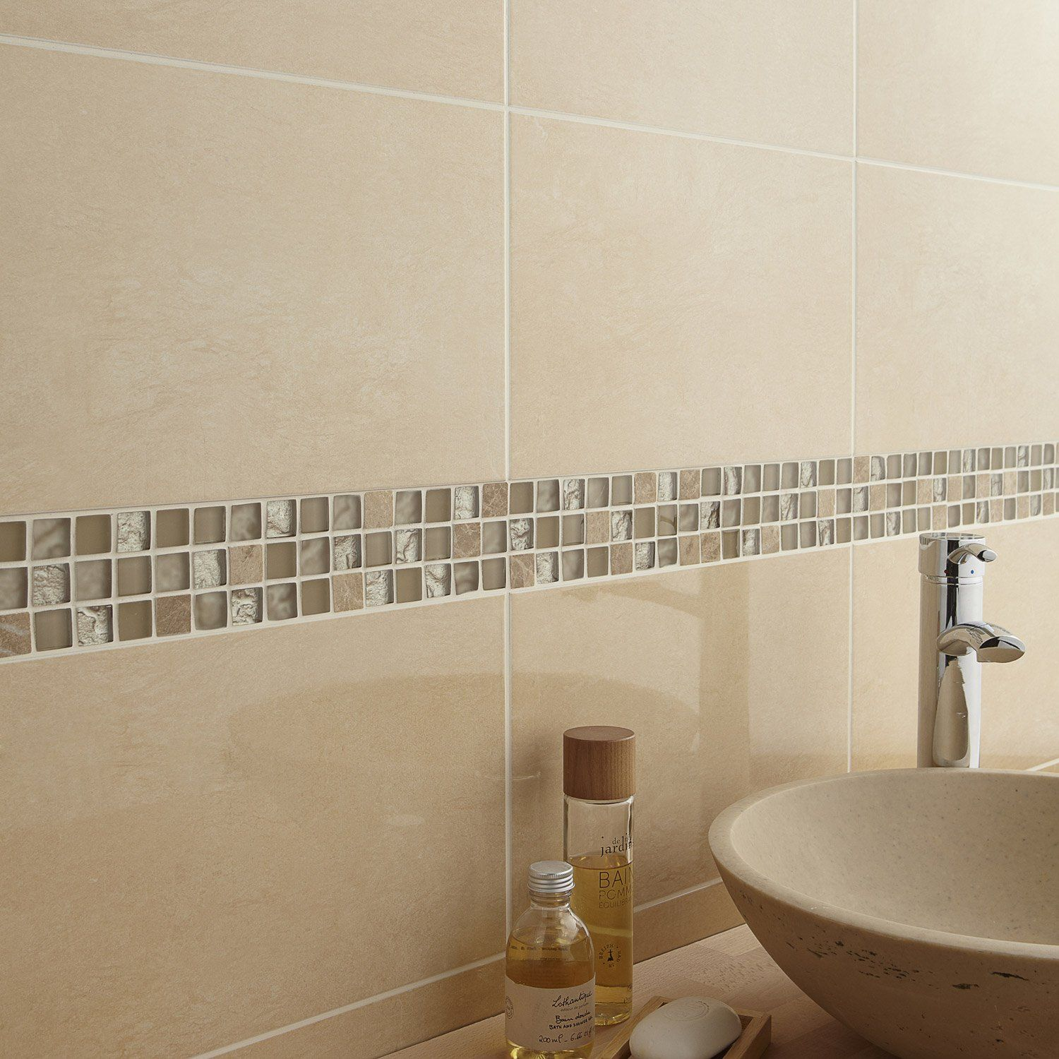 Destination du carrelage mur aspect mati re aspect marbre for Carrelage salle de bain jaune