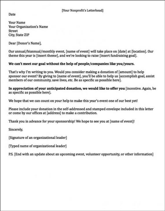 Sponsorship letters write great proposals with 12 for What information goes in a cover letter