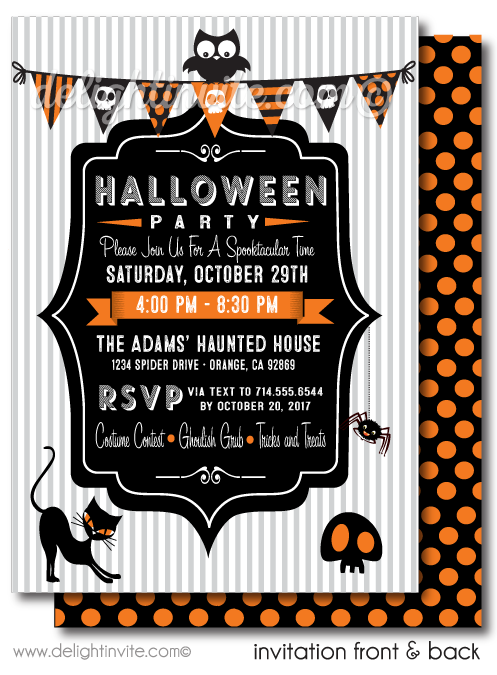 child friendly halloween party invitations non scary halloween