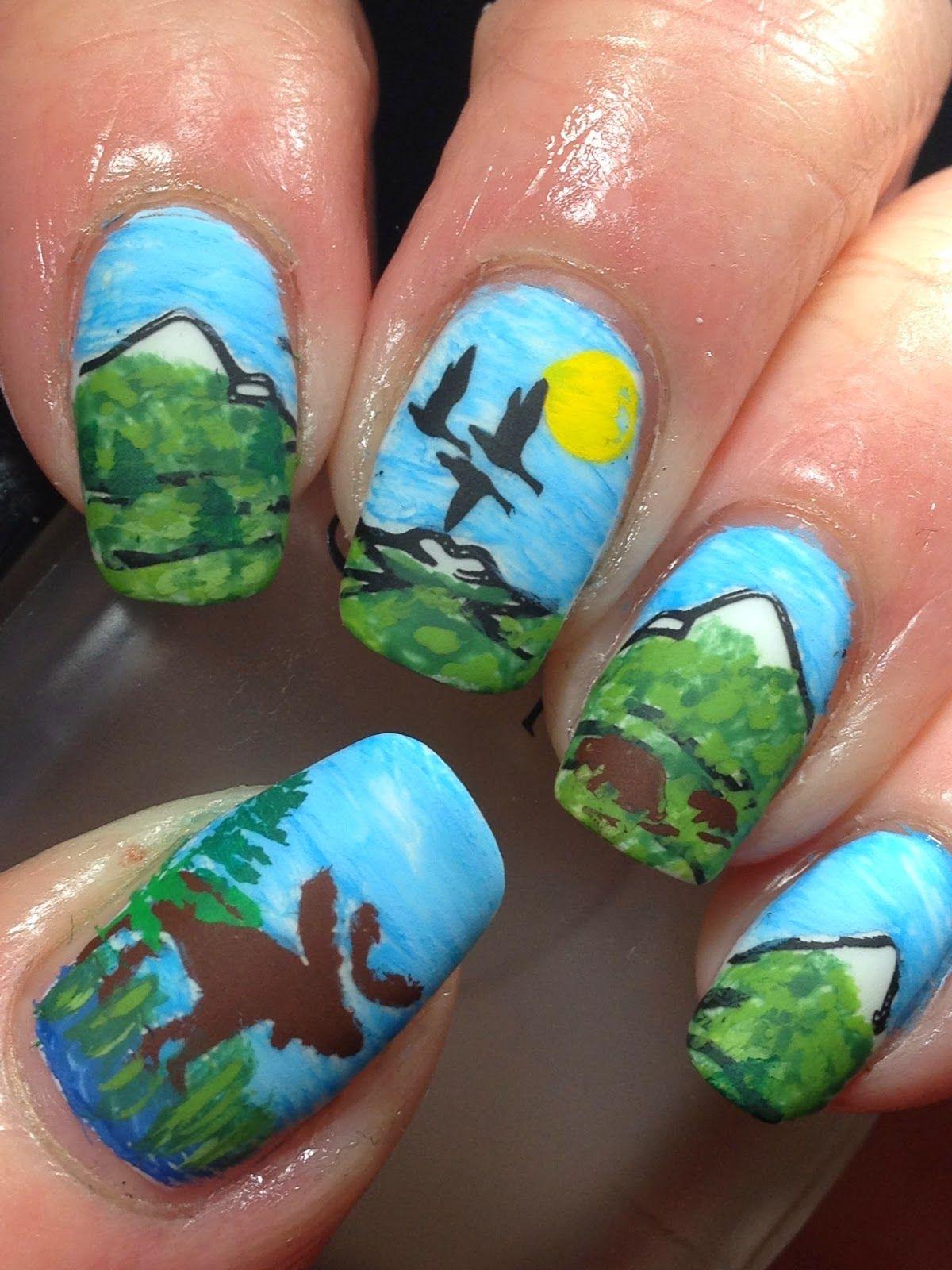 Scenic Nature Nails Nails Pinterest Fancy Nail Art Opi And