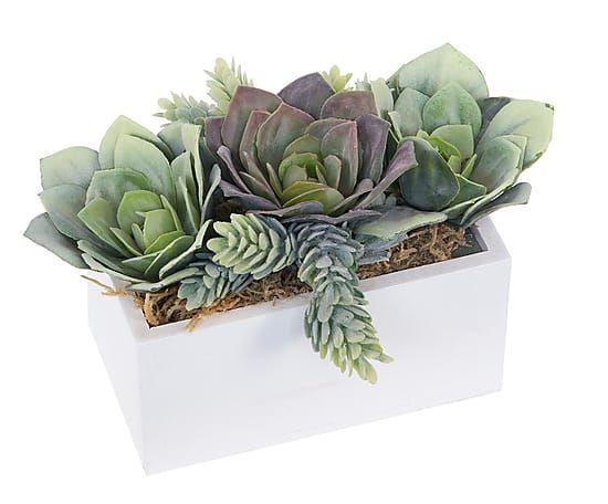 Maceta Con Plantas Y Cactus Artificiales Para Terrazas