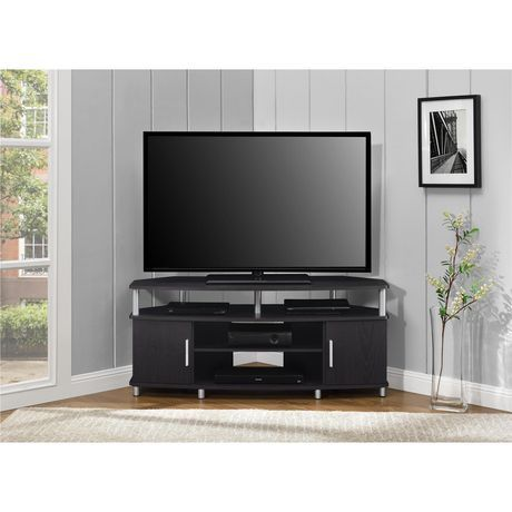 Ameriwood Carson Corner Tv Stand For Tvs Up To 50 Black Cherry