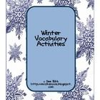 This packet contains several different vocabulary activities using winter words. There are:72 winter vocabulary cards6 sorting mats (nouns, co...