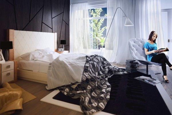 Chambre de design convivial et esthétique par Koj Design Chambre