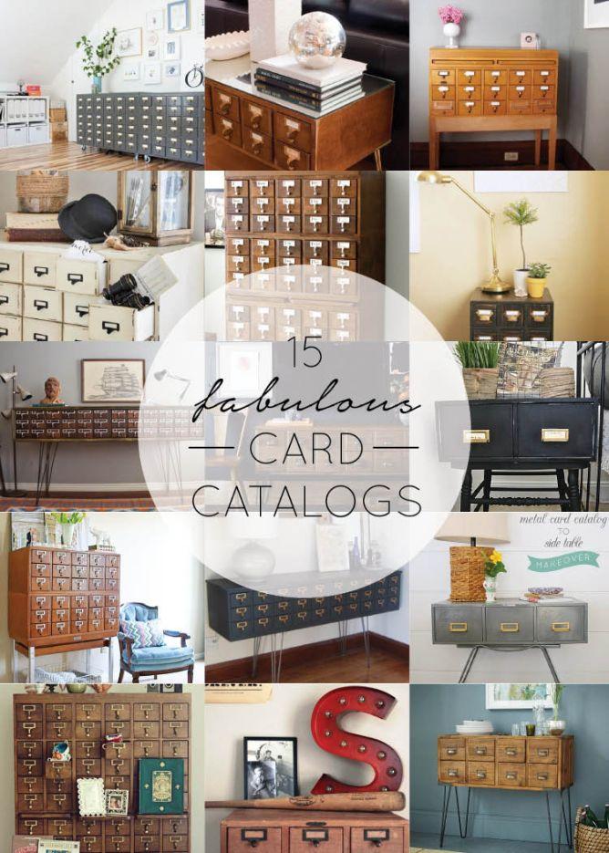 Card Catalog Home Decor | Catalog, DIY ideas and Funky junk