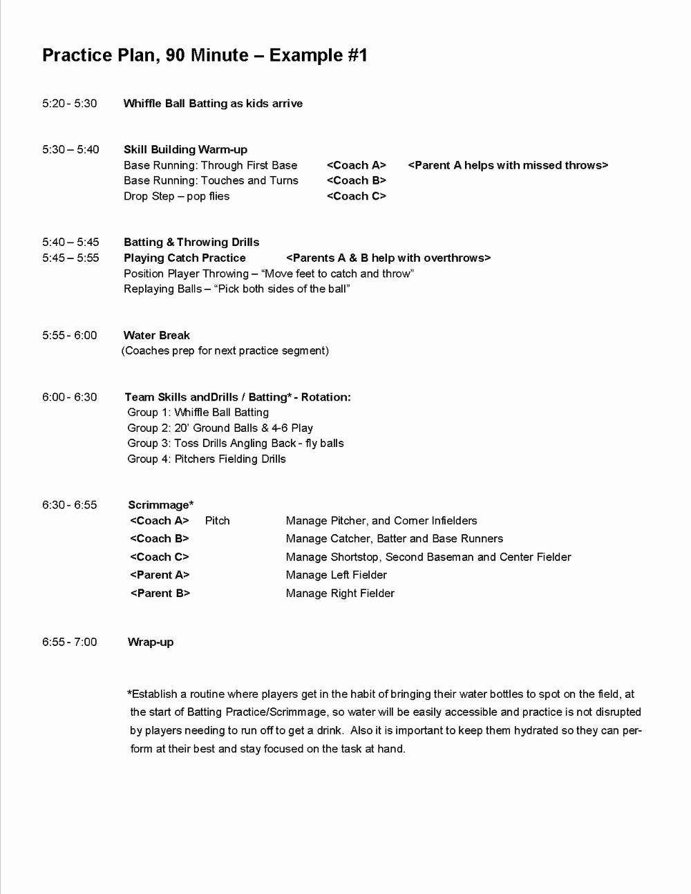 Basketball Practice Plan Template Awesome Practice Plans Baseball Positive In 2020 Basketball Practice Plans Softball Coach Soccer Practice Plans