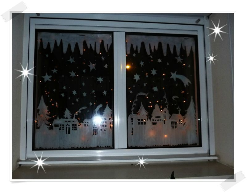peinture fenêtre village de Noël VILLAGE NOËL Pinterest - peinture sur pvc fenetre