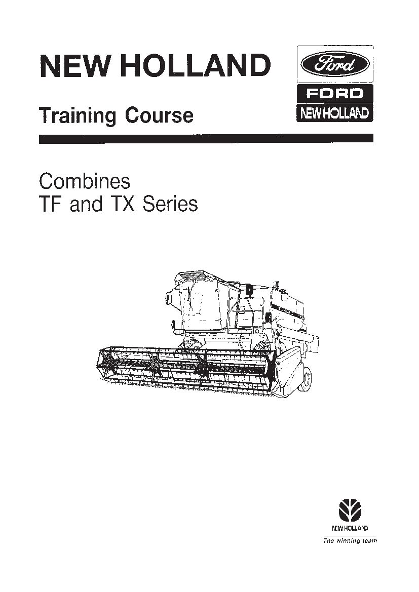 New Holland Tf42 Tf44 Tf46 Combine Training Workshop Repair Service Manual Pdf Download New Holland New Holland Ford Repair