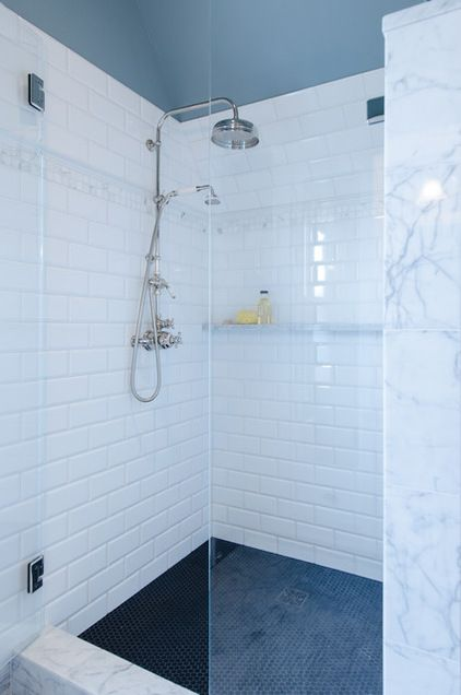 Shower Floor Penny Round Tile 0270 Daltile Curb Black