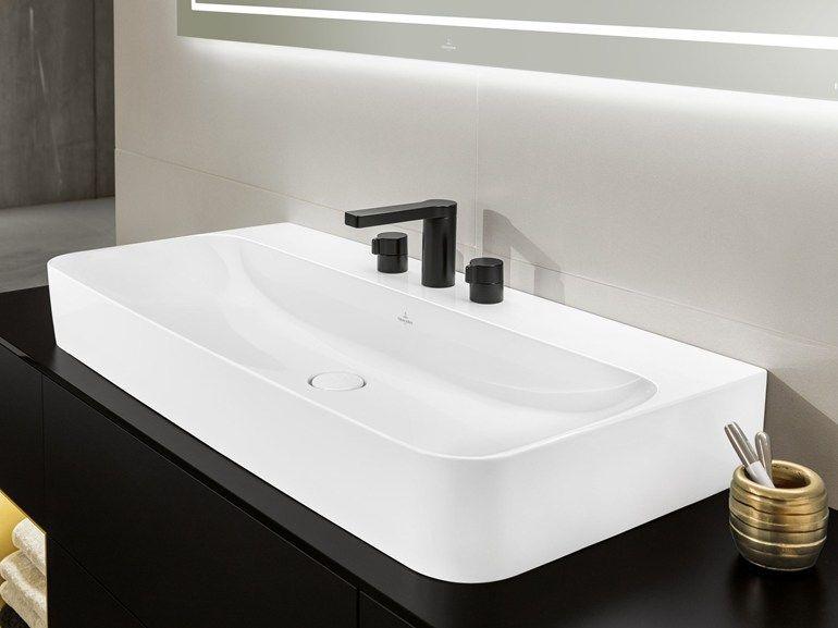 Bagno Rettangolare ~ Lavabo da appoggio rettangolare in villeroy boch finion lavabo